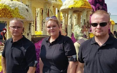 """AXIWI rides along with """"The Association"""" during Vollenhove Flower Parade 2017"""