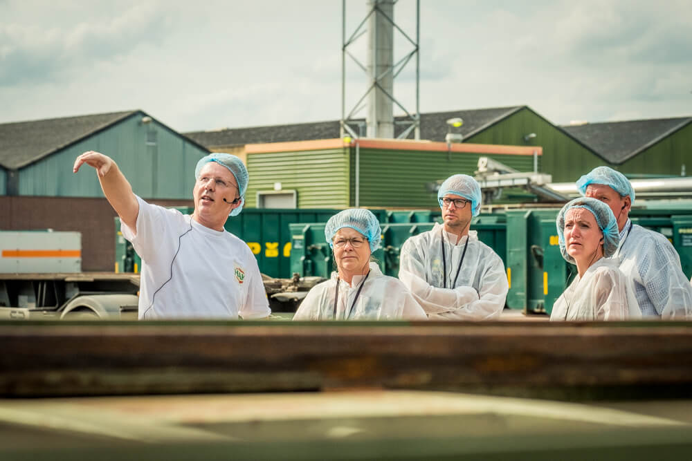 using headsets for outside factory tours