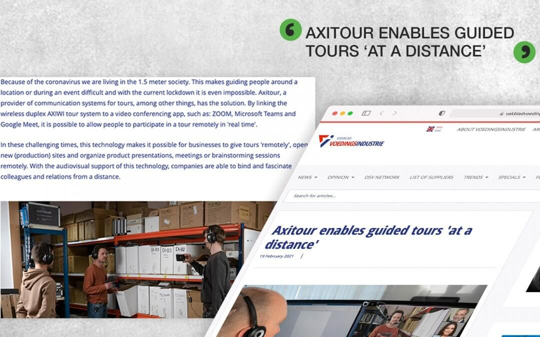 Axitour enables guided tours 'at a distance'