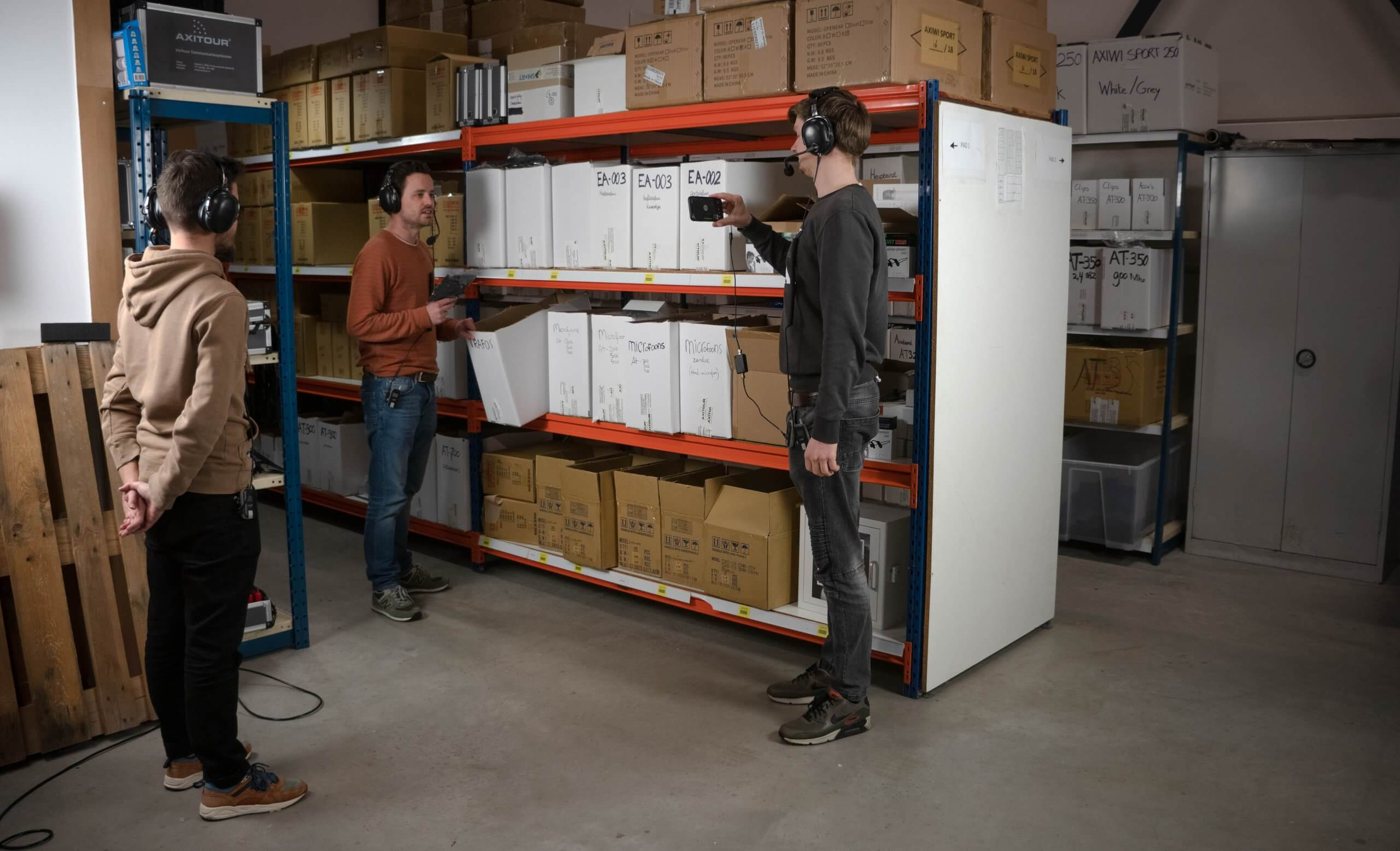 tour guiding remotely via video conferencing apps in your warehouse